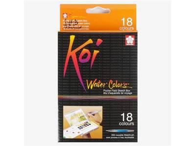 Set de 18 Aquarelles Koi Colors Sketch Box