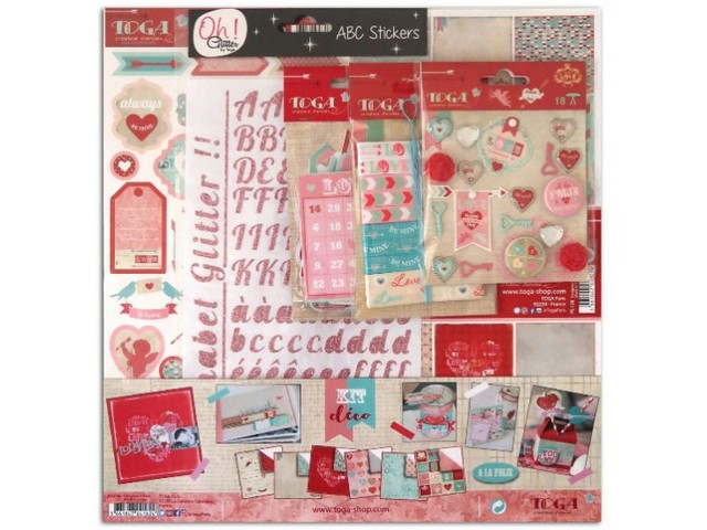 Kit Scrapbooking Déco A la Folie Amour Love