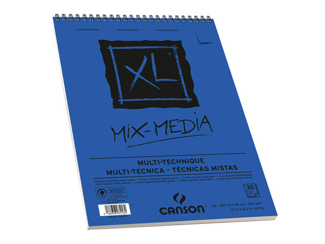 Album Xl® Spirale 30 Feuilles Mix Media 29.7X42 300Gr