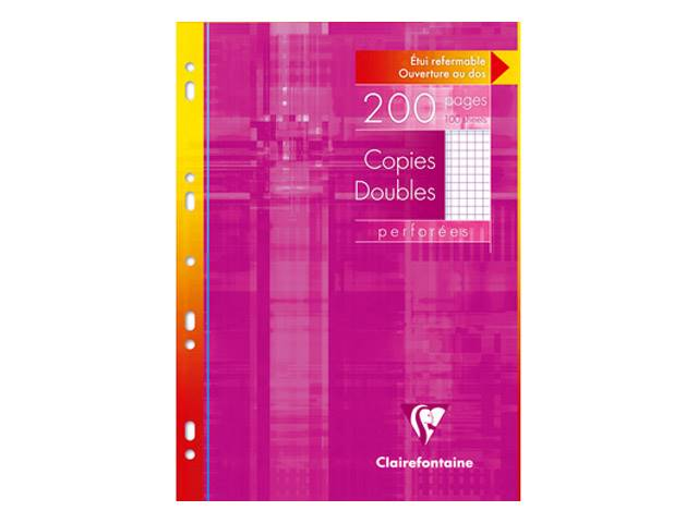 Copies doubles perf.21x29,7 cm 200 pages 90g blanches petits carreaux 5×5mm