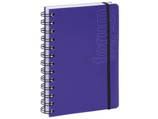 Agenda journalier Forum Sporty 2019-2020 17x12 cm (violet)