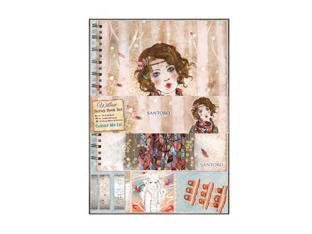 Kit Scrapbook Colour Me In - Santoro