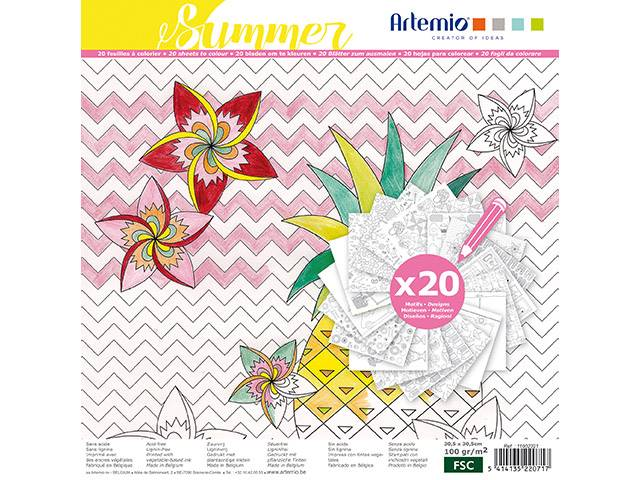 Coloriage Summer Color Therapy