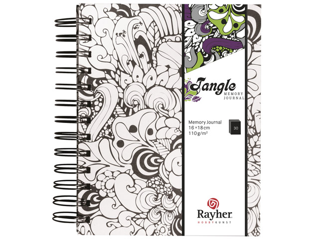 Tangle Memory Journal Orchid Coloriage Anti Stress Spiralé