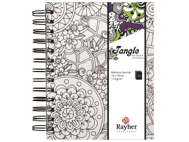 Tangle Memory Journal Flora Coloriage Anti Stress Spiralé