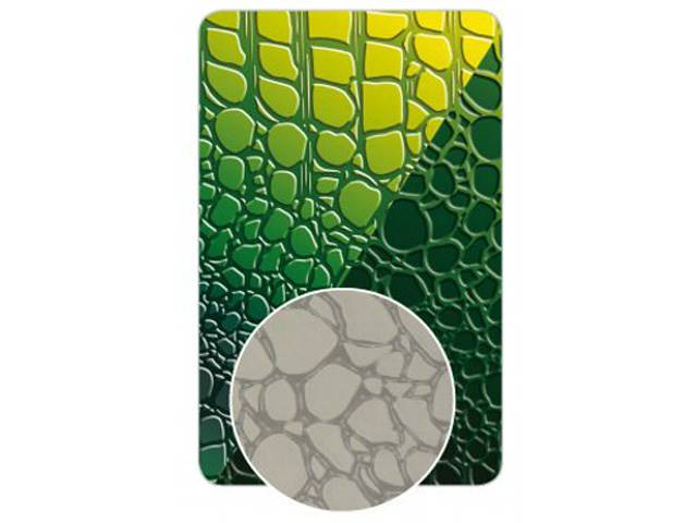 Plaque Texture Croco Fimo