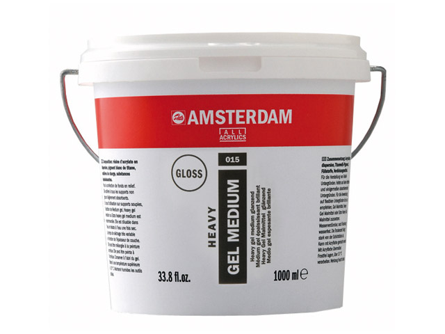 Heavy gel Médium acryl bril 1000 ml Talens