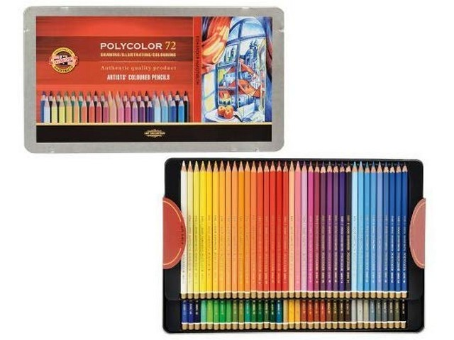 Boite 72 crayons couleur KOH-I-NOOR Polycolor
