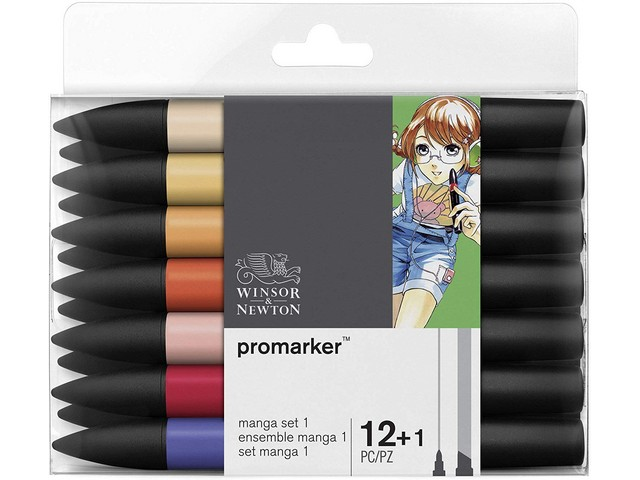 Assortiment 12+1 Promarkers Manga Expansion Set 1 (nouveaux)