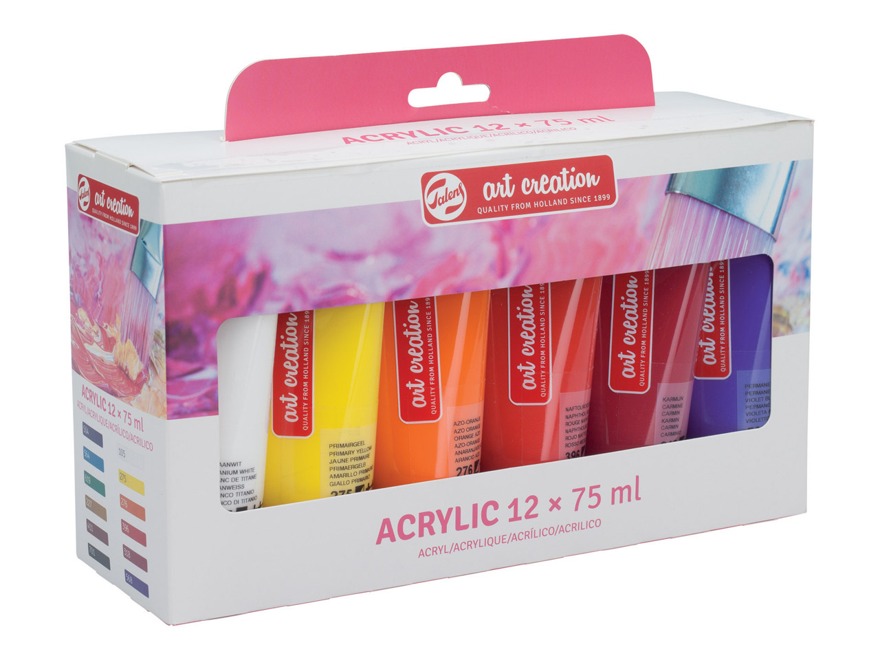 SET de 12 tubes 75 ML Acrylique ArtCréation