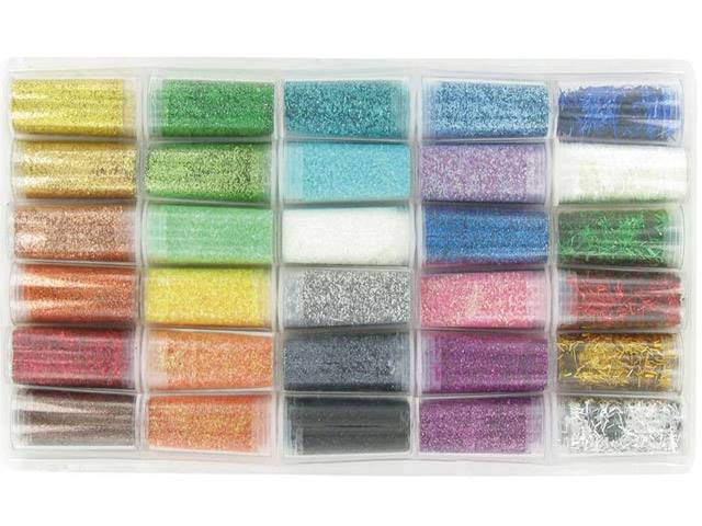 Set 30 tubes paillettes diamantines de 5 grammes