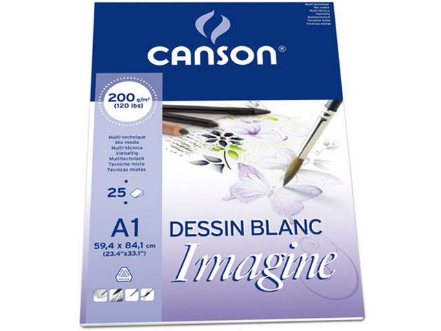 Bloc IMAGINE 25 feuilles A1 200GR