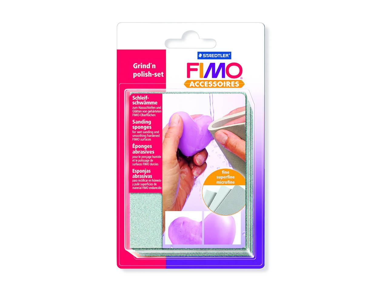 Set 3 Eponges Abrasives Fimo