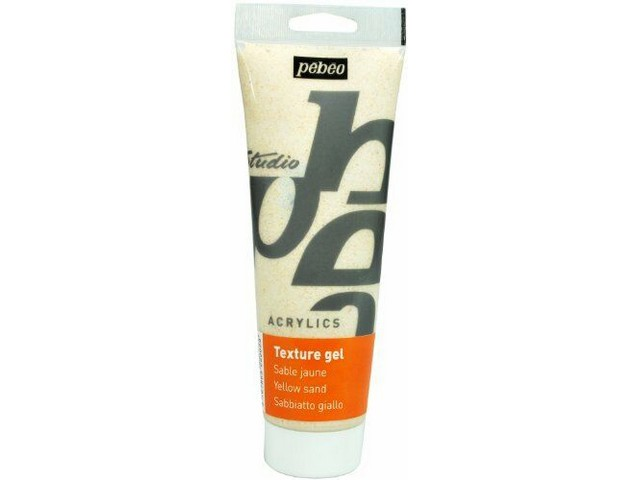 Gel de texture sable jaune 250ml Pébéo