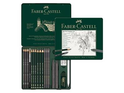 Set Pitt Graphite 19 pieces Faber Castell