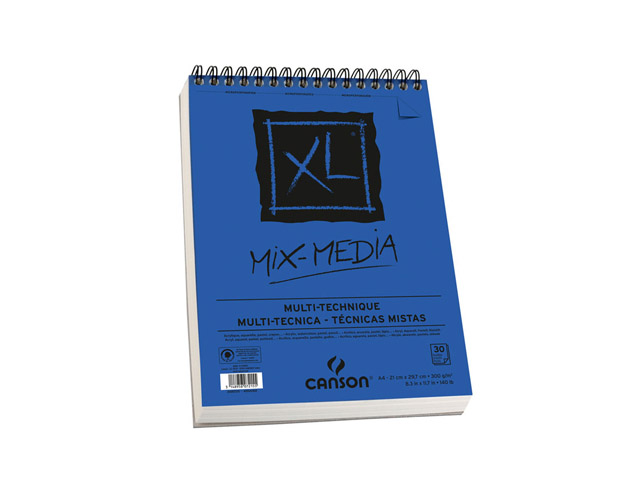 Album Xl® Spirale 30 Feuilles Mix Media 21X29.7 300Gr