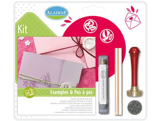 Kit Cire Mariage Double Coeur Spirale Colombe