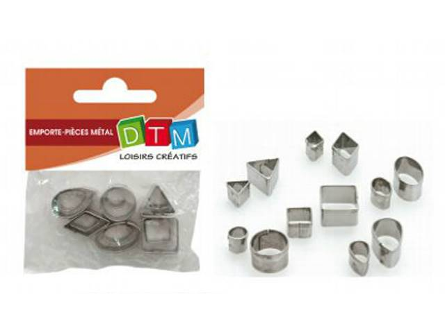 12 Mini Emportes-Pieces Metal