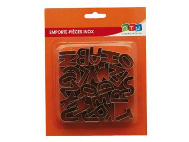 26 Emporte-Pieces Inox Alphabet