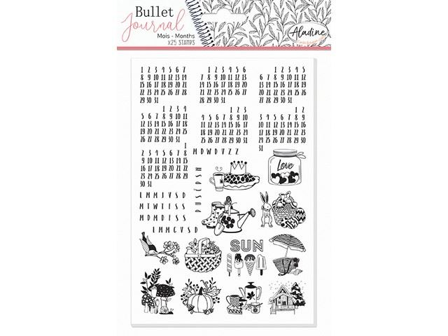 Tampons mousse Bullet Journal : Mois universels