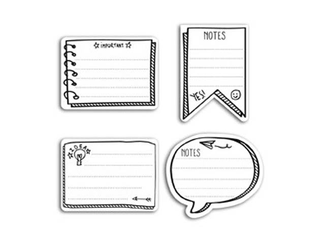 80 Stickers Notes Noir et Blanc