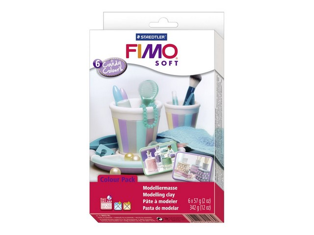 Coffret FIMO Soft 6 pains/couleurs candy