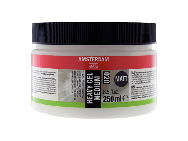 Heavy gel Médium acrylique mat 250 ml Amsterdam Talens