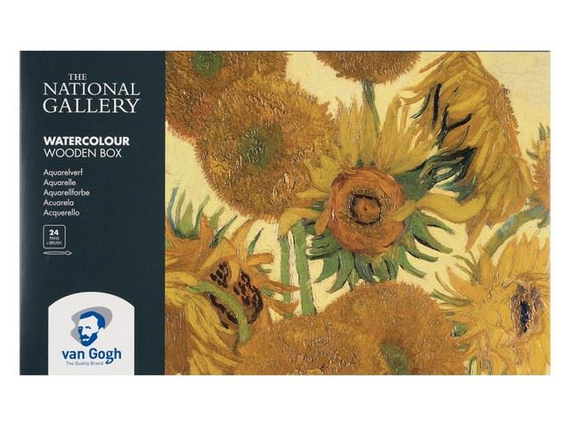 Coffret bois Aquarelle Van-Gogh 24 demi godets National Gallery