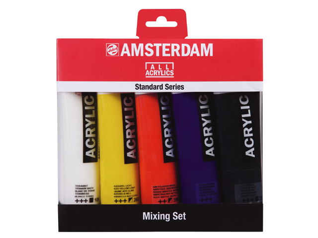 Set 5 tubes 120ml acrylique Amsterdam