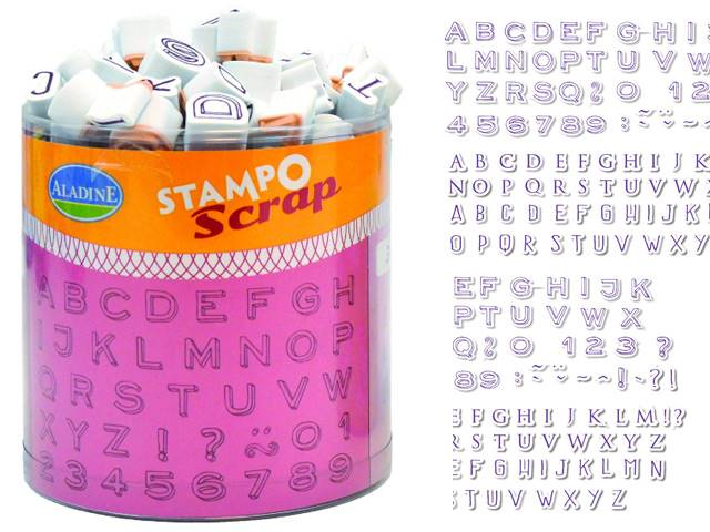 Stampo Scrap Mini Alphabet Aladine