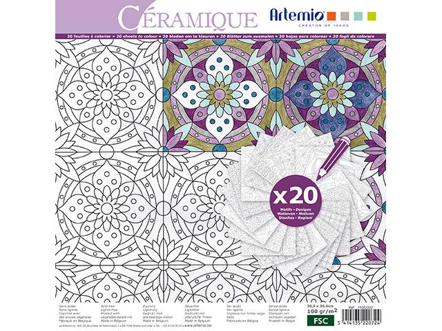 Coloriage Ceramique Color Therapy