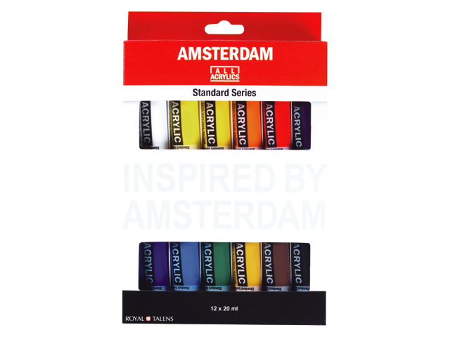 Set 12 tubes 20ml acrylique Amsterdam