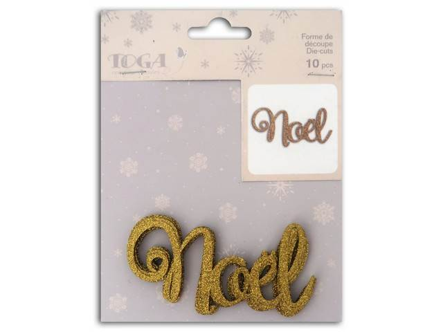 L'Or de Bombay 10 Die Cuts Noel Or TOGA