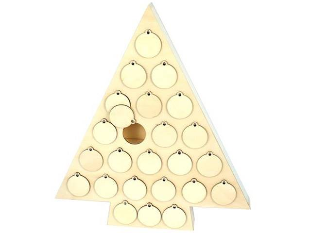 Calendrier Avent Sapin 45.5X40X5 Cm