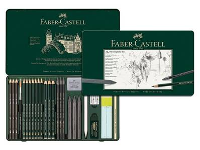 Set Pitt Graphite 26 pieces Faber Castell