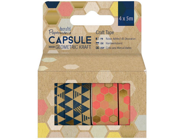 Craft Tape Geometric Kraft Scotch 4X5M