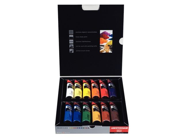 Set 12 tubes 20 ml Acrylique Amsterdam Expert