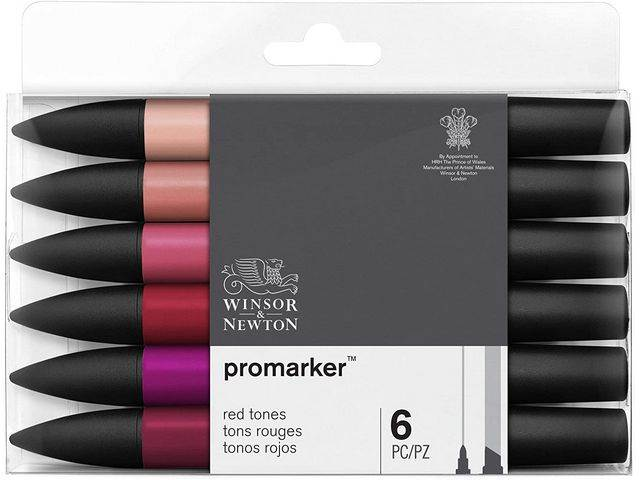 Assortiment 6 Promarkers Tons Rouge
