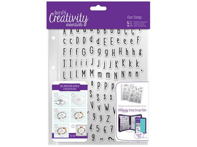 Tampons Clear Alphabet Folk A5 128 Elements