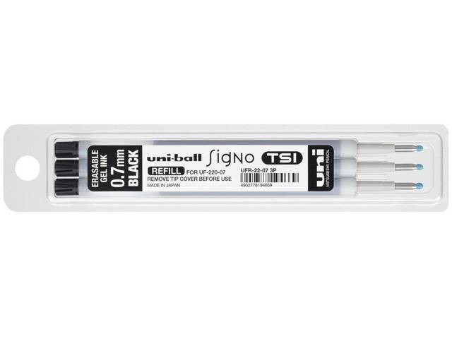 3 Recharges Roller Tsi 0.7mm Encre Thermo Noir