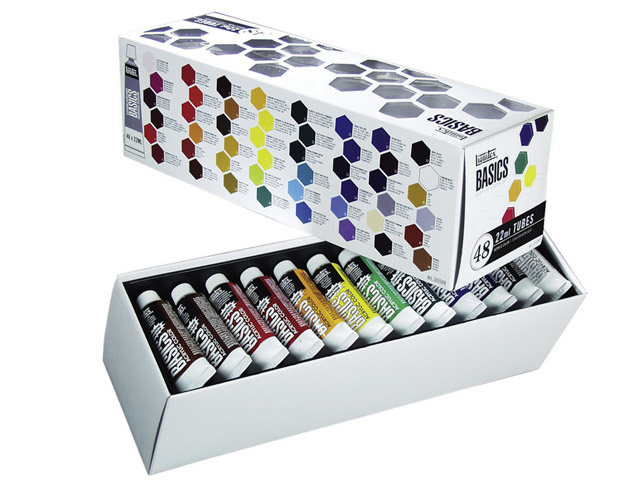 Set Acrylique Liquitex Basics 48 x 22 mL