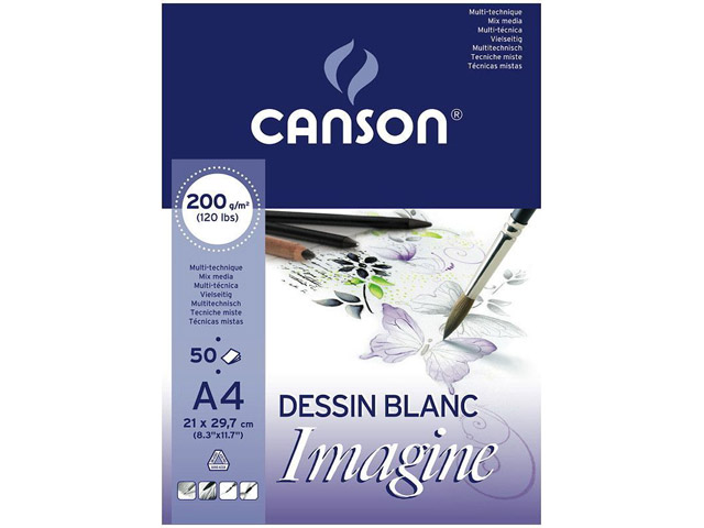 Bloc Imagine 50 Feuilles 21X29.7 200Gr
