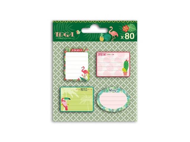 80 STICKY NOTES REPOSITIONNABLES JUNGLE ET ANIMAUX