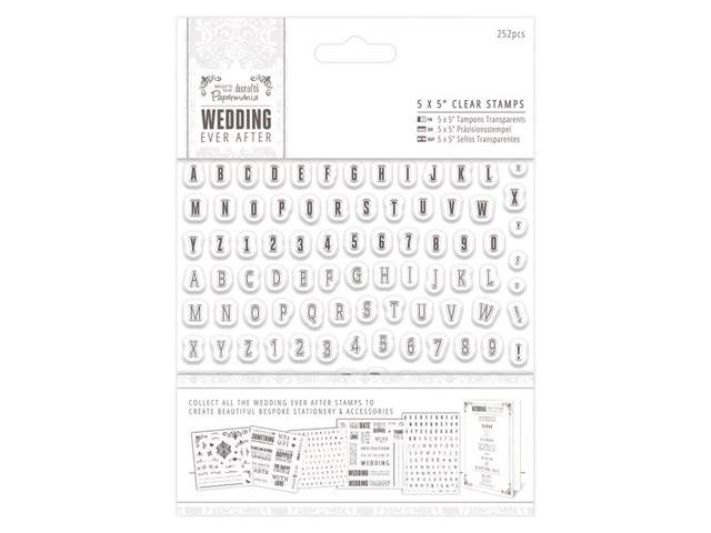 Tampons Clear Wedding Alpha Numbers Mini 252 Elements