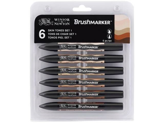 ASSORTIMENT 6 BRUSHMARKER TONS DE CHAIR