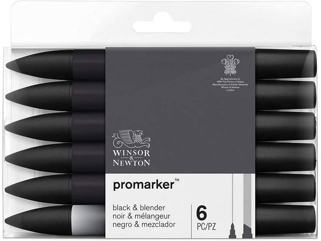Assortiment 6 Promarkers Black & Blender