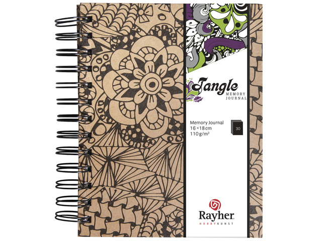 Tangle Memory Journal Cameo Coloriage Anti Stress Spiralé