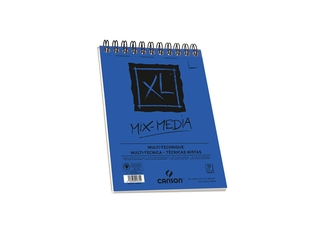 Album Xl® Spirale 15 Feuilles Mix Media 14.8X21Cm 300Gr