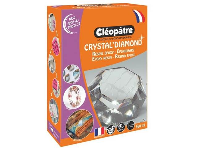 Résine crystal'diamond en 360 ml en coffret