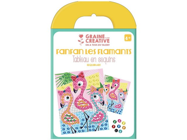 Kit Tableau Sequins Flamants